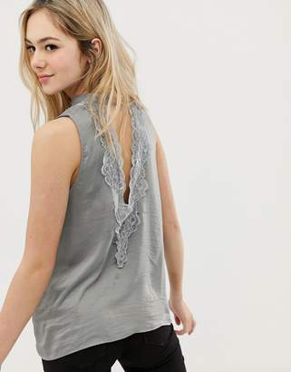 at ASOS · Jdy JDY Appa sleeveless top with lace trim b16898fa4d
