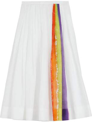 Burberry Rainbow Print Organdie Cotton Skirt