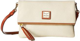 Dooney & Bourke Pebble Fold-Over Zip Crossbody Cross Body Handbags