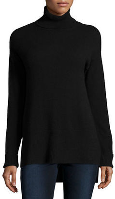 Neiman Marcus Cashmere Collection Cashmere Turtleneck with Side Slits $250 thestylecure.com