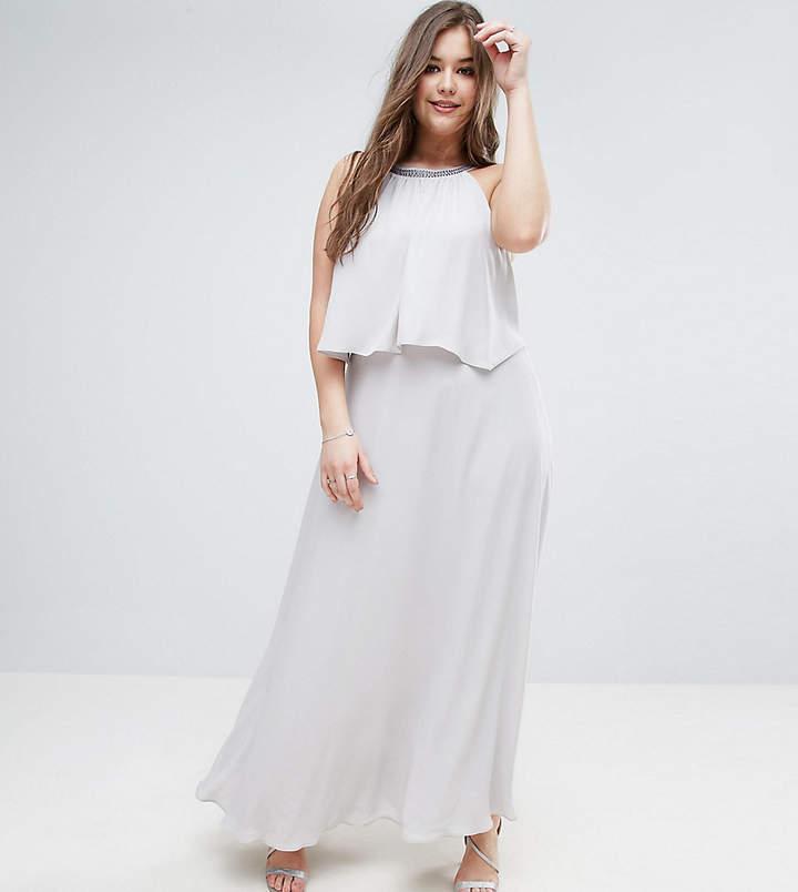 Asos Embellished Strap Back Crop Top Maxi Dress
