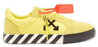 Off-White Off White Vulcanised Low Top Suede Panel Trainers - Mens - Yellow Multi