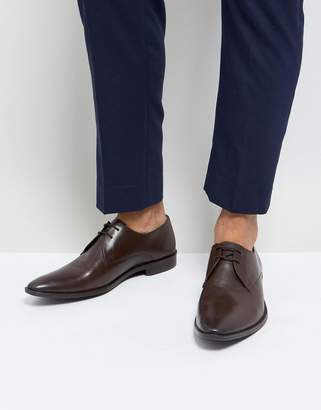 Frank Wright Derby Shoes In Brown Leather