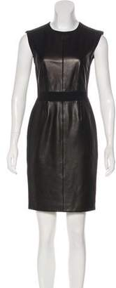 Rebecca Taylor Leather-Paneled Mini Dress