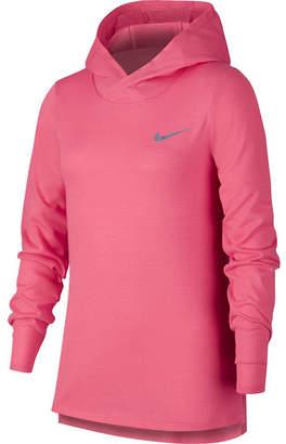 Nike Long Sleeve Hooded Neck T-Shirt-Big Kid Girls