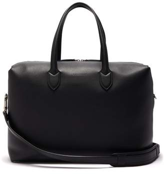 Burberry Lawrence Soft Leather Holdall - Mens - Black