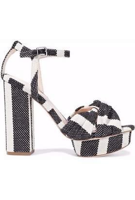07093f891e84 Loeffler Randall Arbella Twisted Striped Canvas Platform Sandals