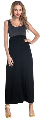 Glamour Empire Womens Maxi Dress Sleeveless Flared Skirt with Empire Waist. 292 (