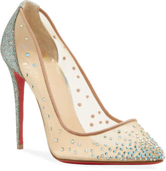 Christian Louboutin Foilles Strass Red Sole Pumps