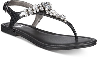 G by GUESS Londean Embellished Flat Sandals $49 thestylecure.com