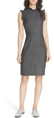 Rebecca Taylor Wool & Silk Herringbone Dress
