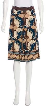Trina Turk Floral Silk Skirt