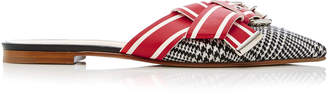 Monse Glen Plaid Racing Stripe Mule