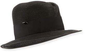 Nell Gigi Burris Straw Fedora Hat
