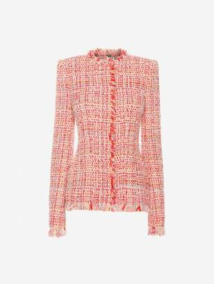 Alexander McQueen Ribbon Tweed Jacket