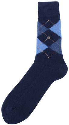 Burlington Mens Preston Argyle Socks - /Blue