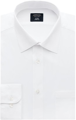 Arrow Men's Fitted Stretch Dress Shirt