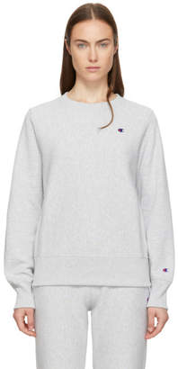 Champion Reverse Weave Grey Small Logo Sweatshirt