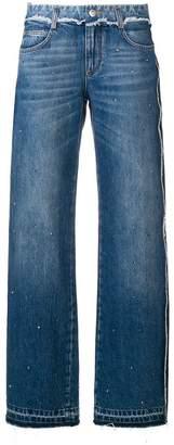 Ermanno Scervino studded raw hem jeans