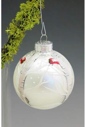ChristinasHandpainted Winter Majesty Hand Painted Glass Ball Ornament