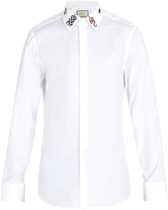 Gucci Embroidered cotton shirt