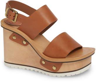 a4a6fa6d7 Brown Wooden Platform Women s Sandals - ShopStyle