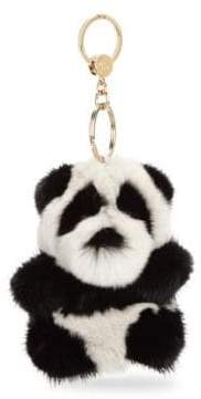 Loro Piana OrilagRabbit& Mink Fur Panda Keychain