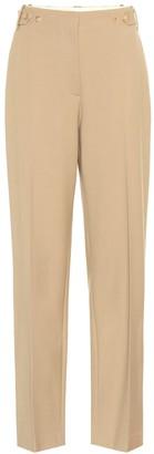 The Row Matea high-rise linen-blend pants