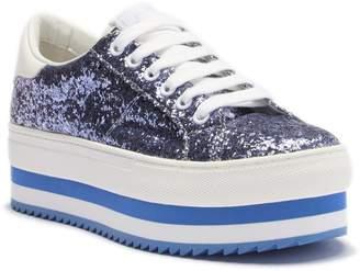 Marc Jacobs Grand Platform Glitter Lace Sneaker