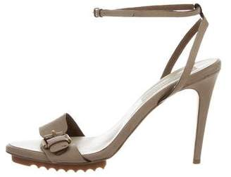 Stella McCartney Vegan Leather Round-Toe Sandals