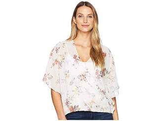 Wrangler 3/4 Sleeve Print Draped Shirt
