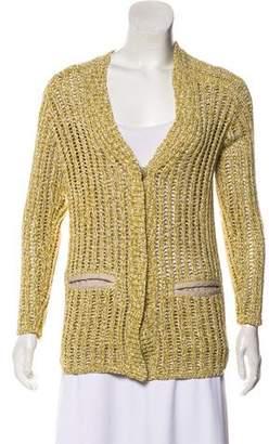 Lafayette 148 Linen-Trimmed Knit Cardigan