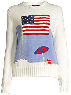 0d9ecca0d Polo Ralph Lauren Women s Long-Sleeve Flag Sweater