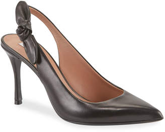 Tabitha Simmons Millie Soft Bow Leather Pumps