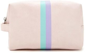 FOREVER 21+ Contrast Stripe Makeup Bag $7.90 thestylecure.com