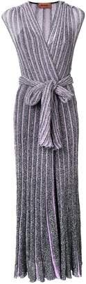 Missoni striped glitter long dress
