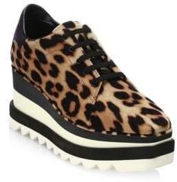 Stella McCartney Leopard Platform Oxfords