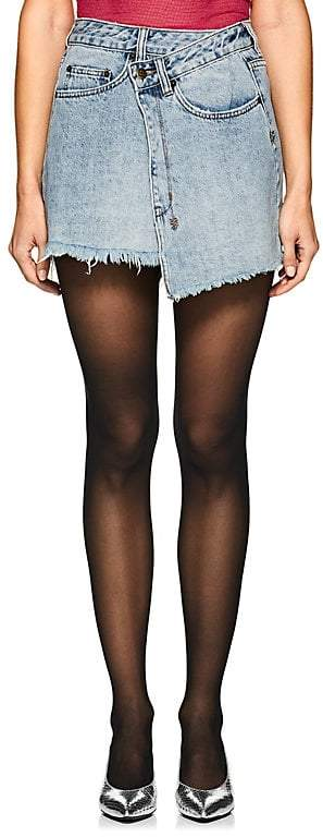 Women's Rap High-Rise Denim Skirt