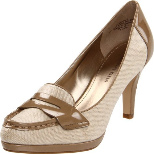 AK Anne Klein Women's Walnut Platform Pump