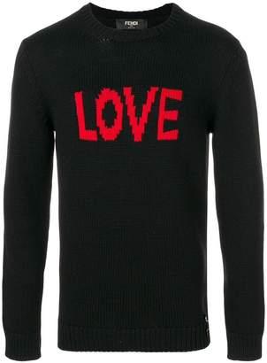Fendi Love intarsia knit jumper