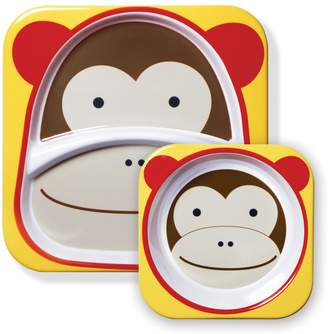 Skip Hop Monkey Zoo Melamine Plate & Bowl Set