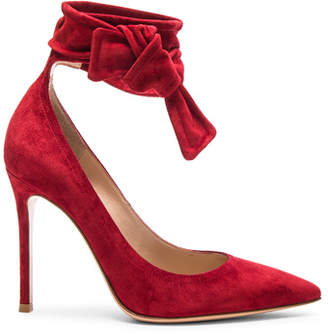 Gianvito Rossi Suede Lane Pumps