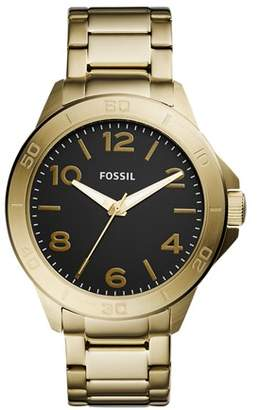 Fossil Modern Century Three-Hand Gold-Tone Stainless Steel Watch Jewelry