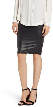 Spanx R) Faux Leather Pencil Skirt