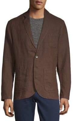 Saks Fifth Avenue Two-Button Linen Blazer