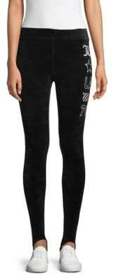 Velour Stirrup Leggings