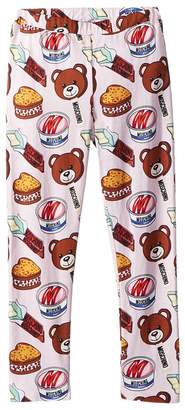 Moschino Kids Teddy Bear Ice Cream Print Leggings Girl's Casual Pants