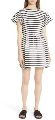 Kate Spade stripe tie waist dress