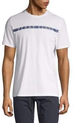 Perry Ellis Logo Stripe T-Shirt