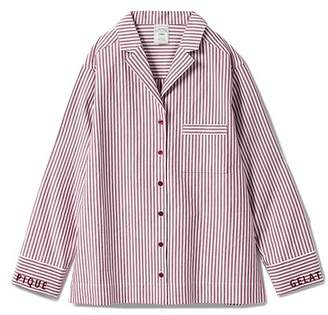 Gelato Pique (ジェラート ピケ) - gelato pique ストライプロゴシャツ